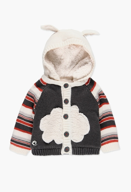Knitwear hooded jacket for baby_1