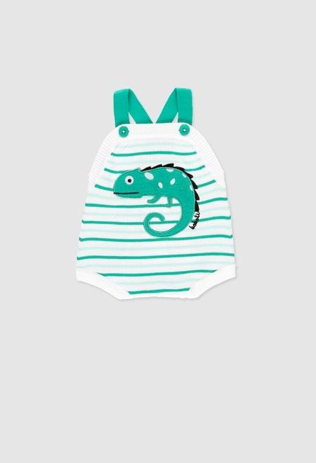 Pelele tricotosa corto de bebé_1
