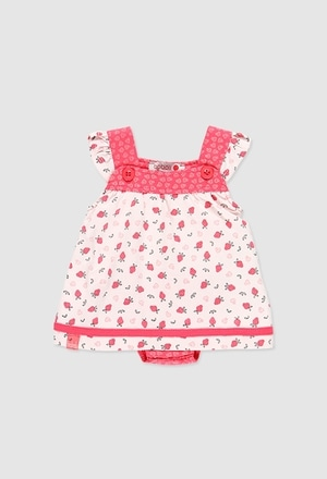 Knit play suit for baby girl_1