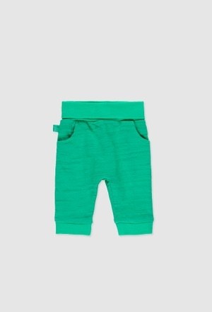 Knit trousers for baby boy_1