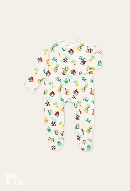 """Babygrow """"animais"""" do bébé - orgânico_1"""