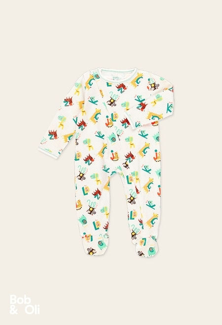 """Play suit """"animals"""" for baby - organic_1"""