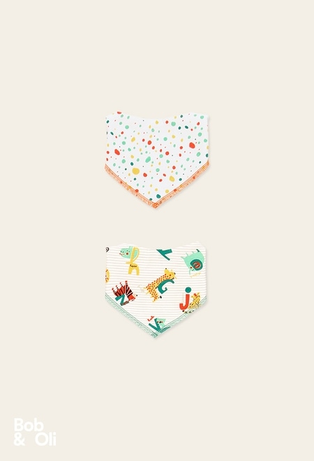 Pack 2 pañuelos de bebé - orgánico_1