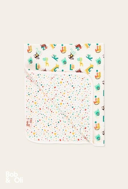 "Blanket ""animals"" for baby - organic_1"