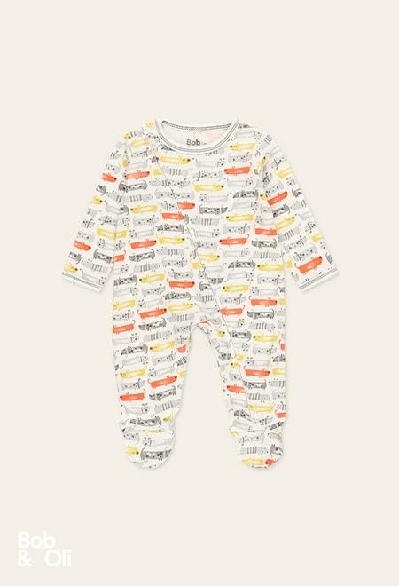 Babygrow canelado do bébé - orgânico_1