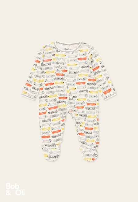 Ribbed play suit for baby - organic_1