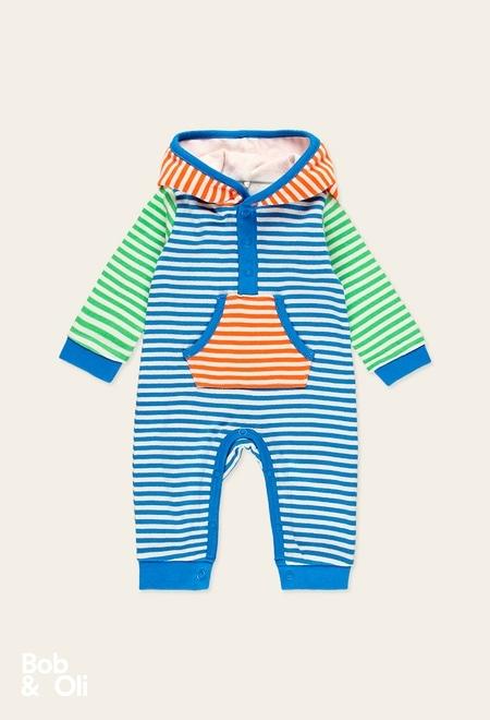 Babygrow às riscas do bébé - orgânico_1