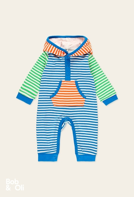 Play suit striped for baby - organic_1