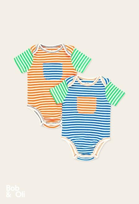 Pack de 2 bodys cotêlée pour bébé - organique_1