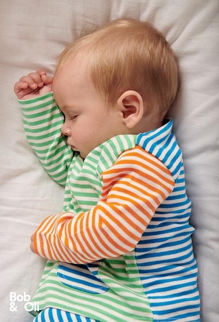 Pack en tricot à rayures pour bébé - organique_1