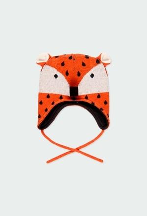 """Knitwear hat """"fox"""" for baby_1"""