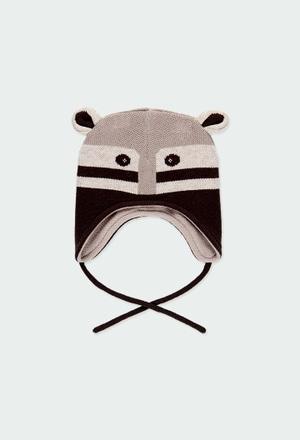 Gorro tricotosa mapache de bebé_1