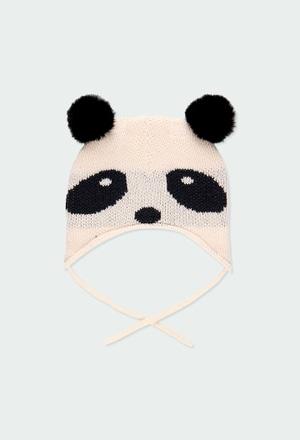 """Gorro tricotosa """"oso"""" de bebé_1"""