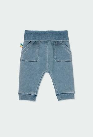Calças felpa denim para o bebé menino_1