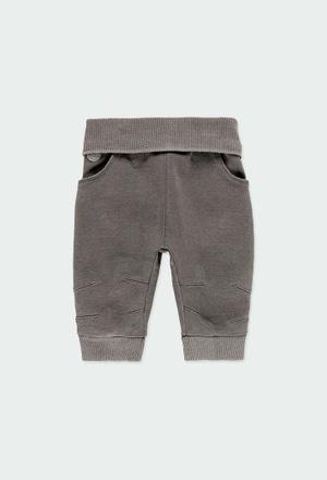 Pantalón felpa denim de bebé_1