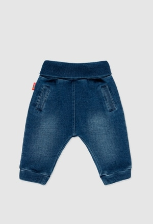 Fleece denim trousers for baby_1