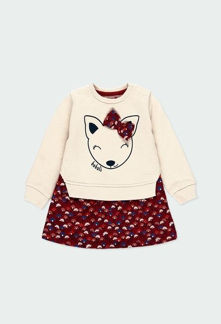 Kleid gestrickt kombiniert blumen für baby_1