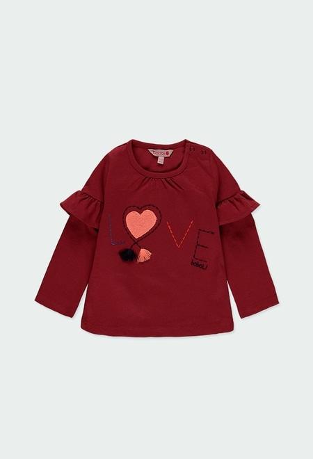 """Camiseta malha """"bbl love"""" para o bebé menina_1"""