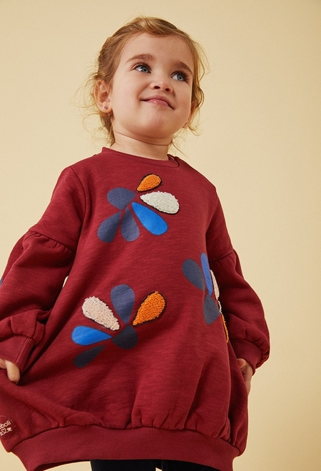 """Fleece dress flame """"floral"""" for baby_1"""