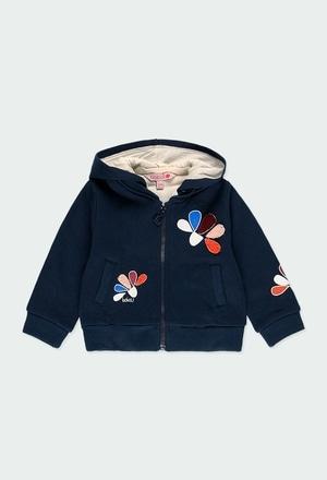 "Fleece jacket ""floral"" for baby girl_1"