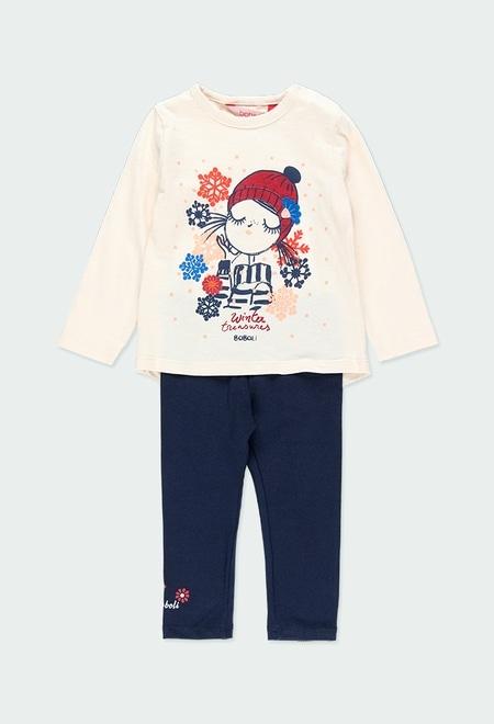 """Pack en tricot bi matiere """"winter"""" pour bébé_1"""