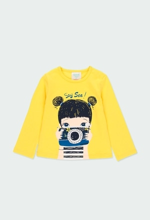 "Knit t-Shirt ""camera"" for baby girl_1"