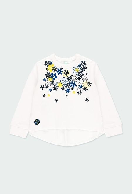 Fleece sweatshirt combined for baby girl_1