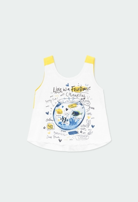 Camiseta punto con lazo de bebé niña_1
