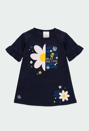 Vestido malha com folhos para o bebé menina_1