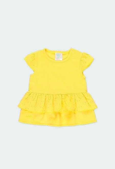 Camiseta punto con volante de bebé niña_1