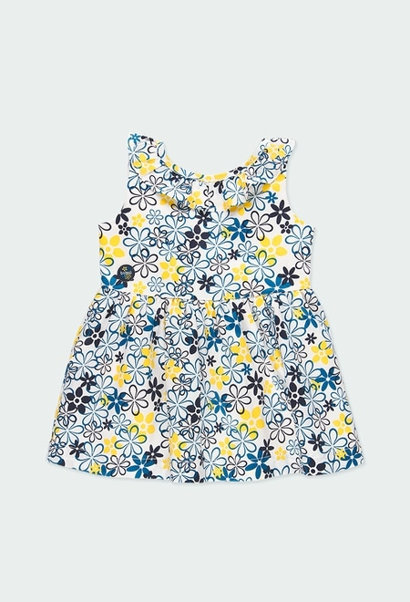 Satin dress floral for baby girl_1