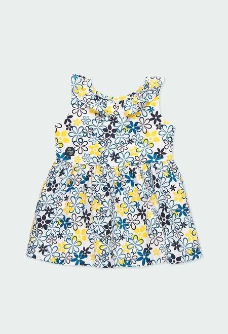 Vestido cetim floral para o beb? menina_1