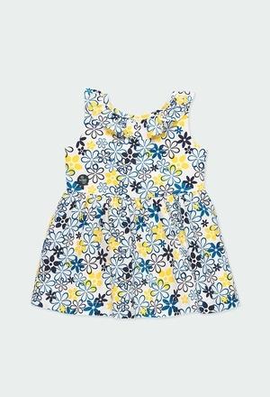 Vestido satén flores de bebé niña_1