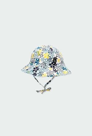 Bonnet en satin fleurs pour bébé fille_1
