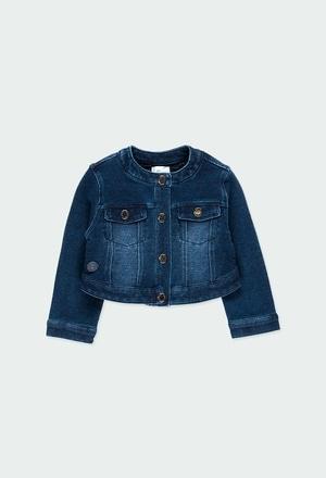Veste en molleton jean pour bébé fille_1