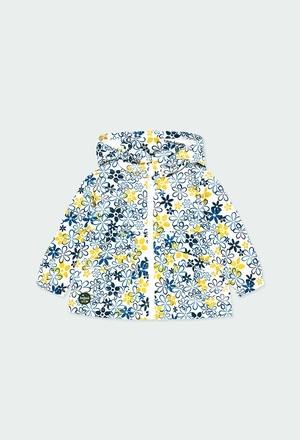 Parka tejido técnico flores de bebé niña_1
