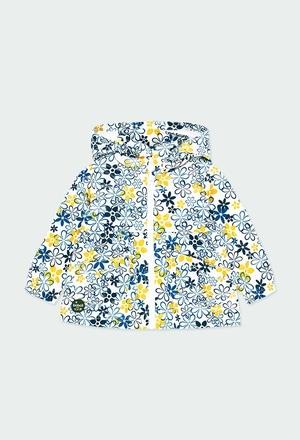 Parka tecido técnico floral para o bebé menina_1