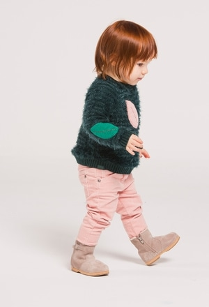 Knitwear pullover for baby girl_1