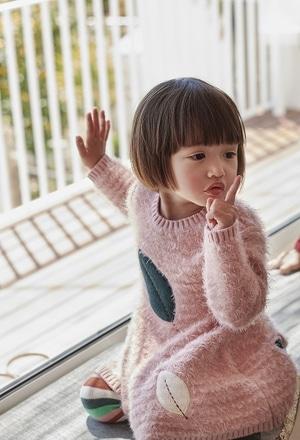 Kleid strick für baby mädchen_1