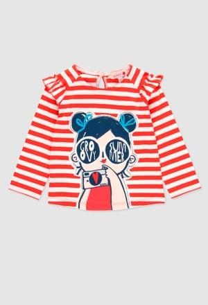 T-Shirt glatt gestrickt für baby mädchen_1