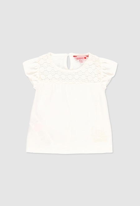 Camiseta punto flamé de bebé niña_1
