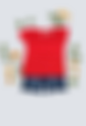 Camiseta punto flamé de bebé niña