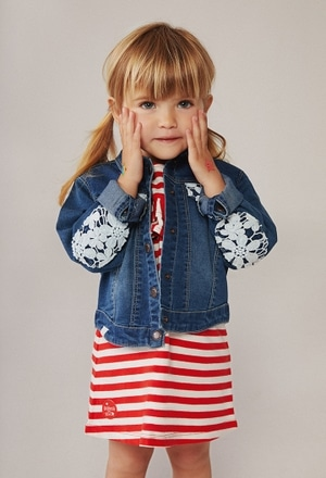 Denim jacket stretch for baby girl_1
