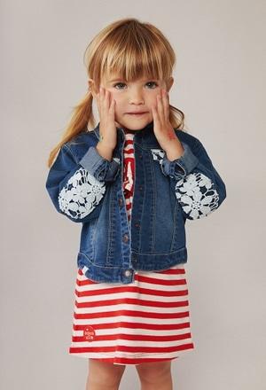 Veste en jean élastique pour bébé fille_1