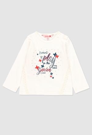 T-Shirt gestrickt flame für baby mädchen_1