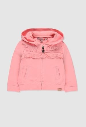 Fleece jacket flame for baby girl_1