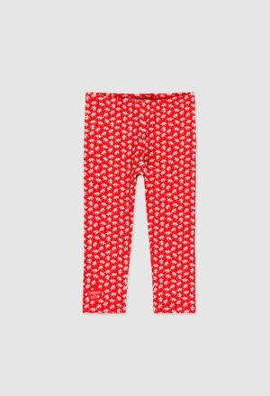 Stretch knit leggings for baby girl_1