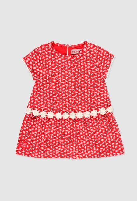 Vestido punto elástico de bebé niña_1
