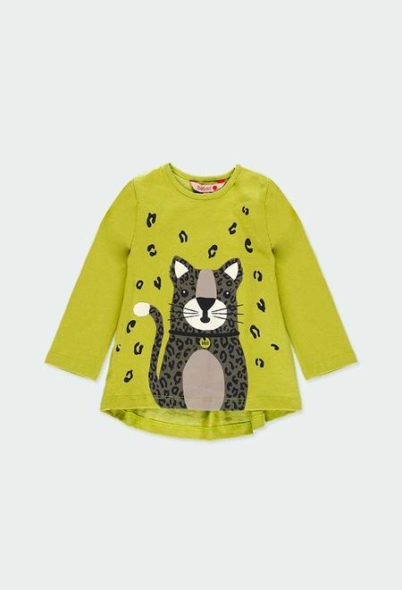 Camiseta punto estampada de bebé niña_1