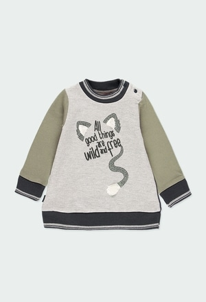 """Fleece dress """"letters"""" for baby girl_1"""